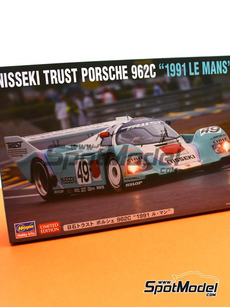 Porsche 962C Nisseki Trust Racing Team - 24 Hours Le Mans 1991 | Model car kit in 1/24 scale manufactured by Hasegawa (ref. 20318) image