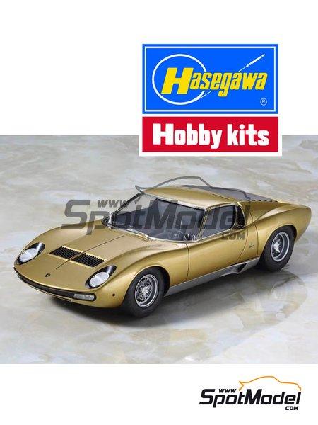 Lamborghini Miura P400 SV | Model car kit in 1/24 scale manufactured by Hasegawa (ref.20319) image