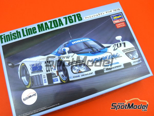 Image 9: Mazda 767B Finish Line - 24 Hours Le Mans 1989 | Model car kit in 1/24 scale manufactured by Hasegawa (ref.20325)