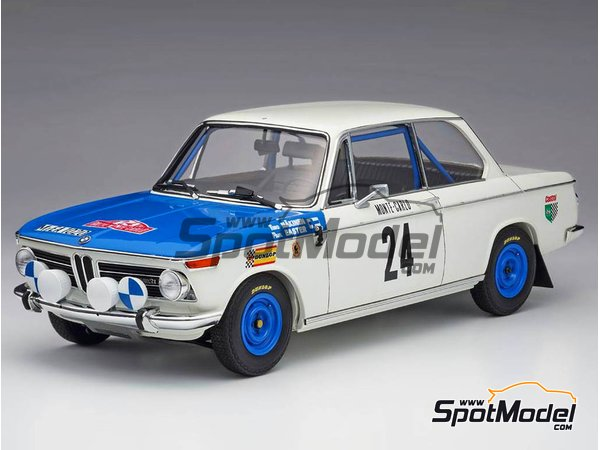 Image 1: BMW 2002 tii - Montecarlo Rally - Rallye Automobile de Monte-Carlo 1969   Model car kit in 1/24 scale manufactured by Hasegawa (ref.20332)