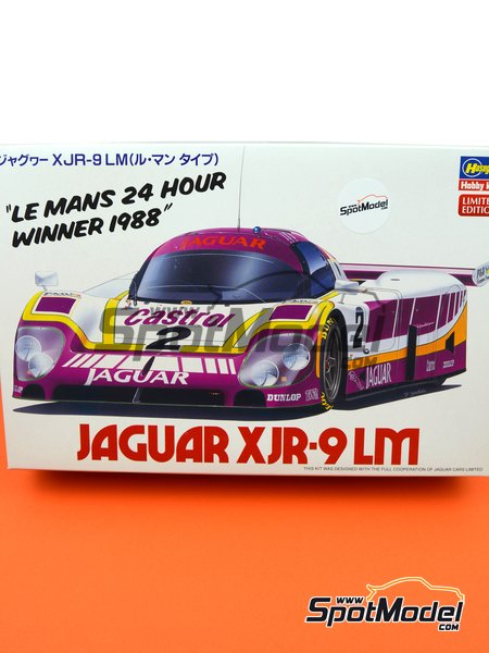 Jaguar XJR-9 Castrol - 24 Hours Le Mans 1988 | Model car kit in 1/24 scale manufactured by Hasegawa (ref. 20335) image