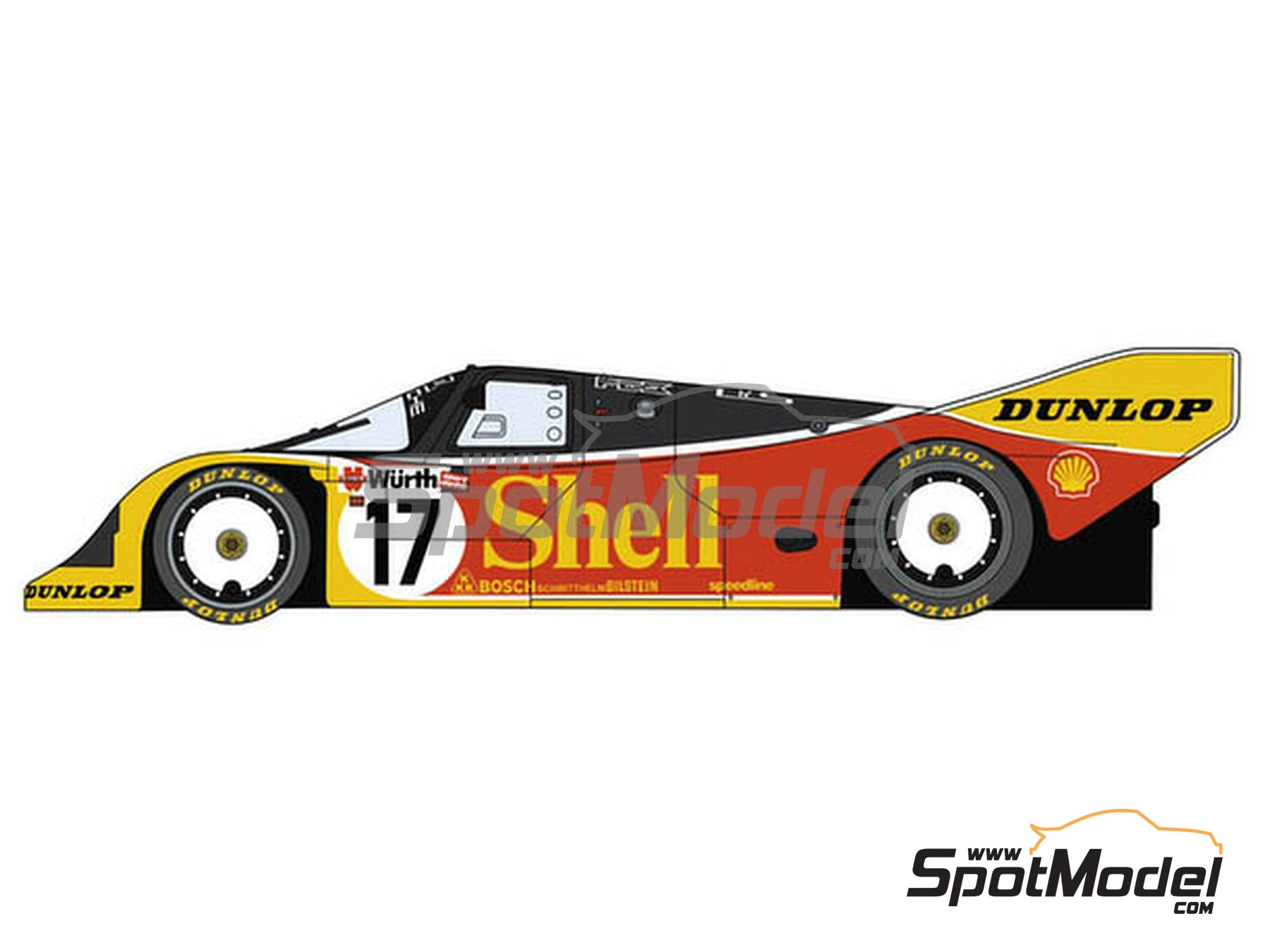 Image 1: Porsche 962C Shell - 24 Hours Le Mans 1988 | Model car kit in 1/24 scale manufactured by Hasegawa (ref. 20337)