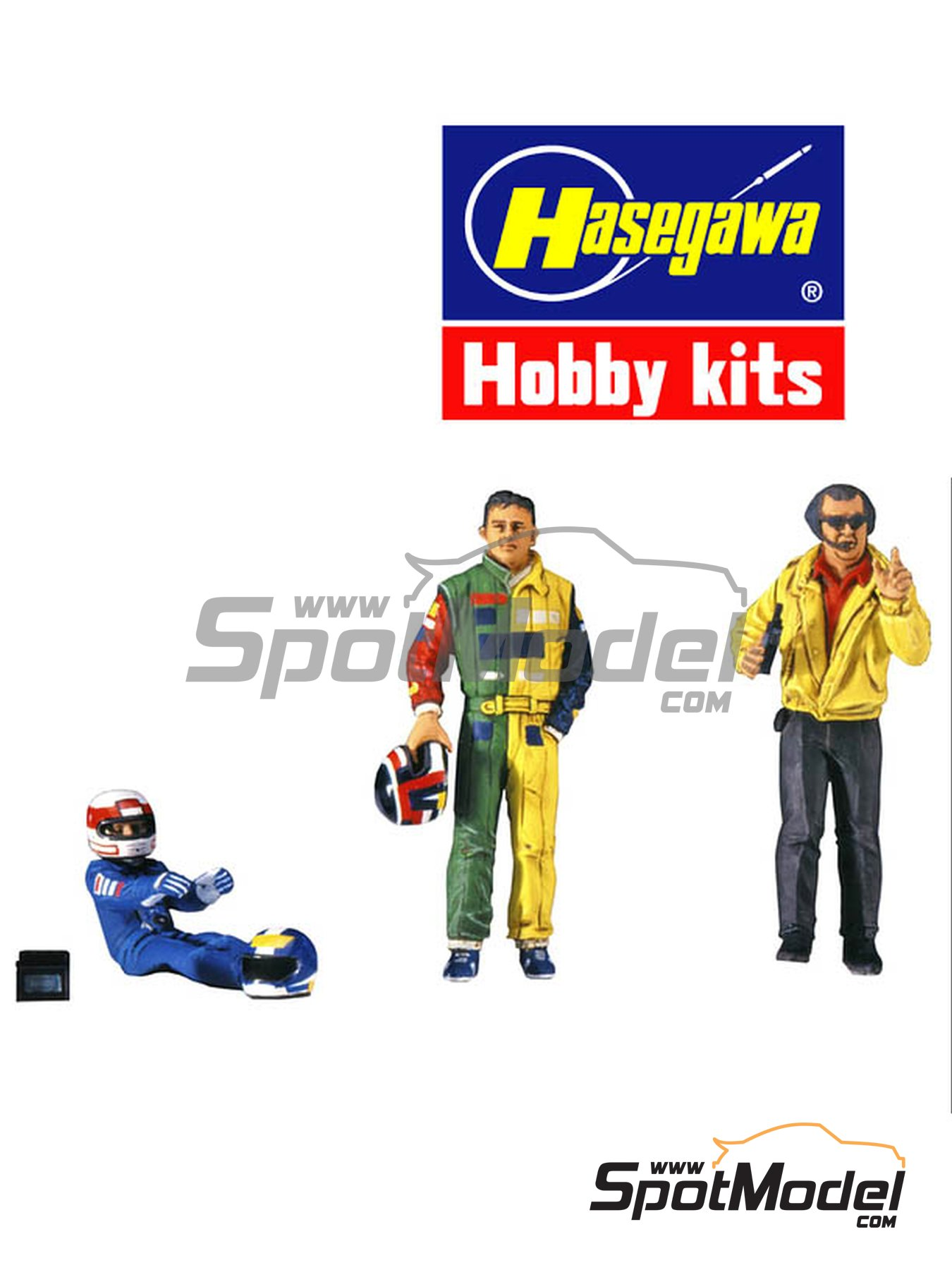 Formula 1 drivers and manager | Figures set in 1/20 scale manufactured by Hasegawa (ref. 20341) image