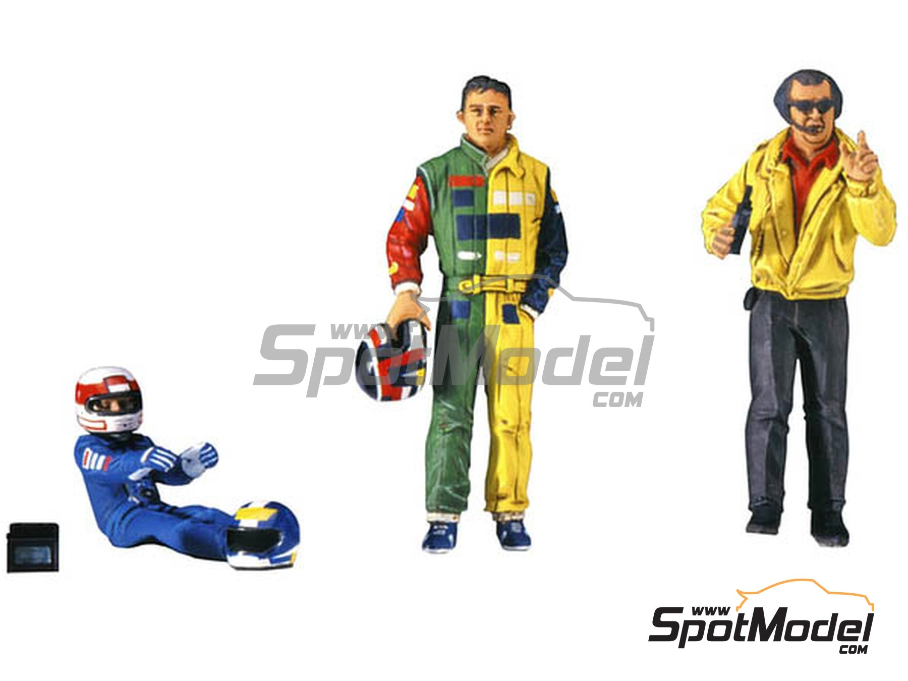 Image 1: Formula 1 drivers and manager | Figures set in 1/20 scale manufactured by Hasegawa (ref. 20341)