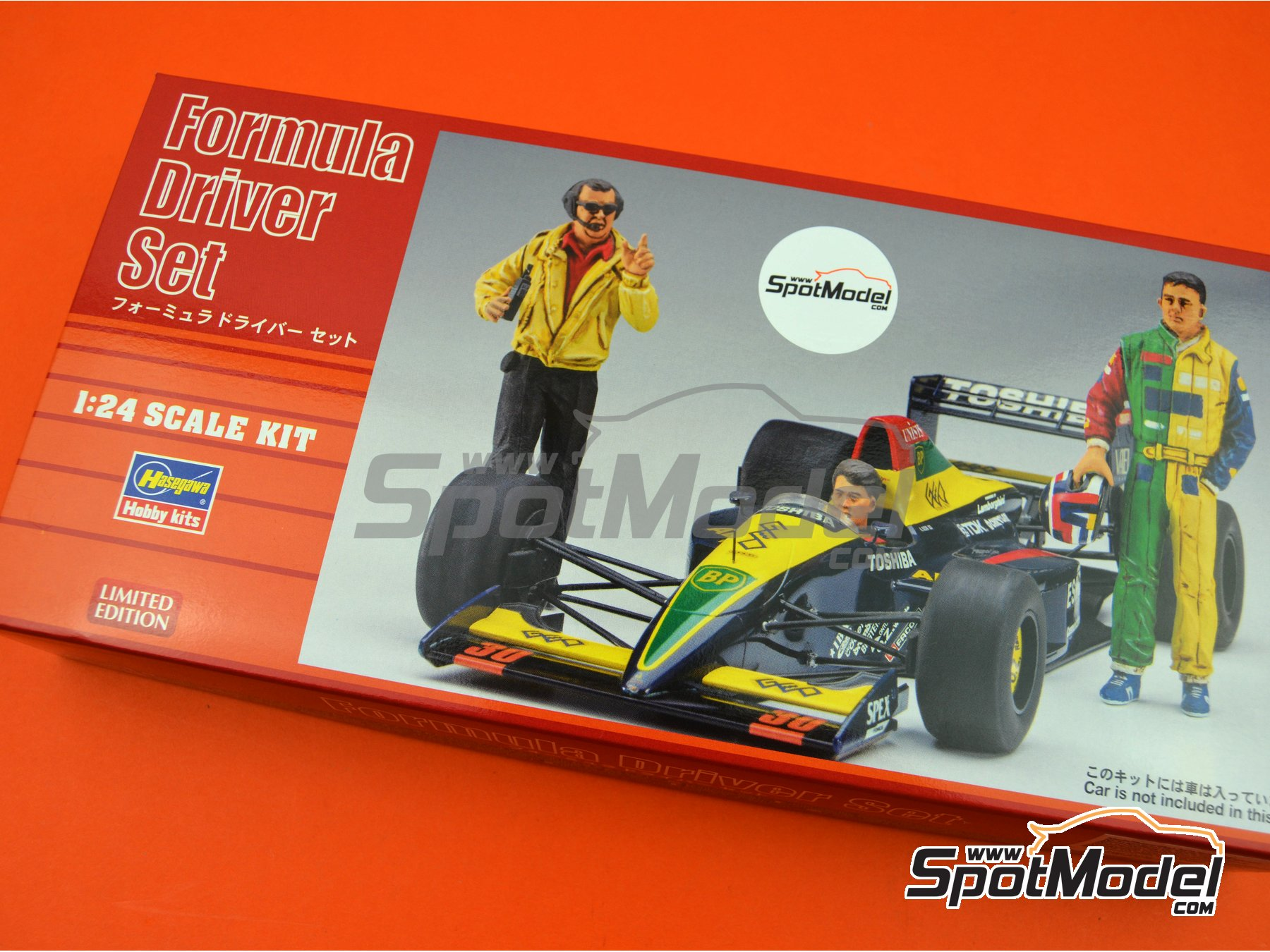 Image 8: Formula 1 drivers and manager | Figures set in 1/24 scale manufactured by Hasegawa (ref.20341, also 4967834203419, HSG20341 and HAS20341)