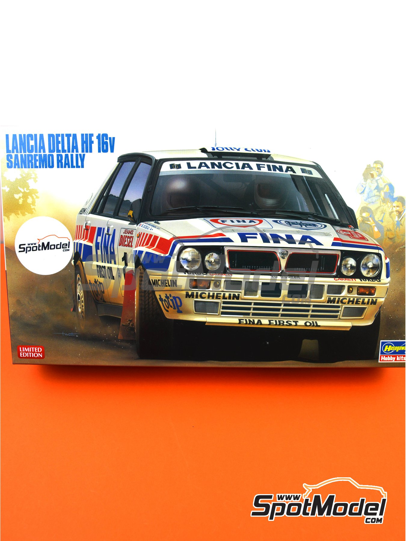 Lancia Delta HF 16v Fina - Sanremo Rally 1991 | Model car kit in 1/24 scale manufactured by Hasegawa (ref. 20343) image
