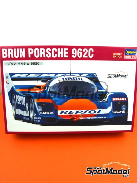 Porsche 962C Brun Motorsport Team - FIA World Sports-Prototype Championship - WSPC 1988 | Model car kit in 1/24 scale manufactured by Hasegawa (ref. 20345) image