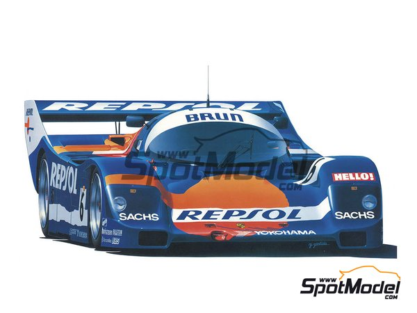 Image 1: Porsche 962C Brun Motorsport Team - FIA World Sports-Prototype Championship - WSPC 1988 | Model car kit in 1/24 scale manufactured by Hasegawa (ref. 20345)