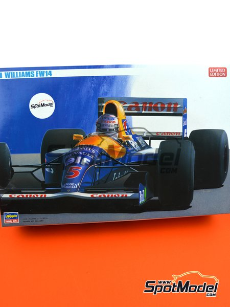Williams Renault FW14 Canon - FIA Formula 1 World Championship 1991 | Model car kit in 1/24 scale manufactured by Hasegawa (ref.20346, also 20366, FS-9 and 23019) image