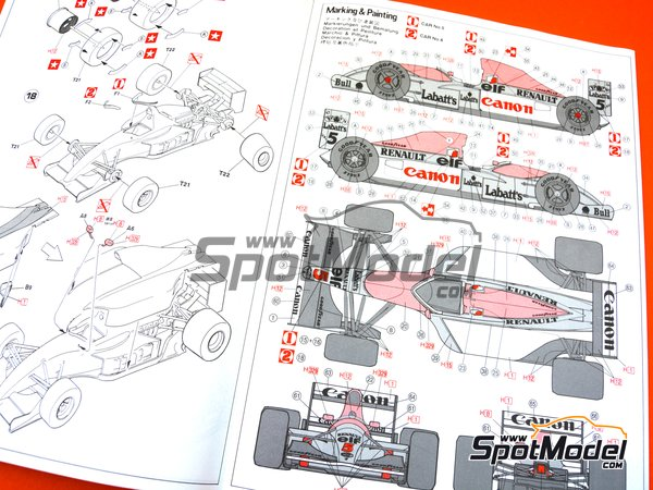 Image 6: Williams Renault FW14 Canon - FIA Formula 1 World Championship 1991 | Model car kit in 1/24 scale manufactured by Hasegawa (ref.20346, also 20366, FS-9 and 23019)