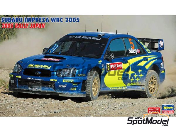 Image 1: Subaru Impreza WRC - Japan rally 2005 | Model car kit in 1/24 scale manufactured by Hasegawa (ref. 20353)