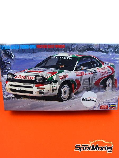 Toyota Celica Turbo 4WD Toyota Castrol Team - Great Britain RAC Rally 1993 | Model car kit in 1/24 scale manufactured by Hasegawa (ref. 20358, also 4967834203587 and hsg20358) image