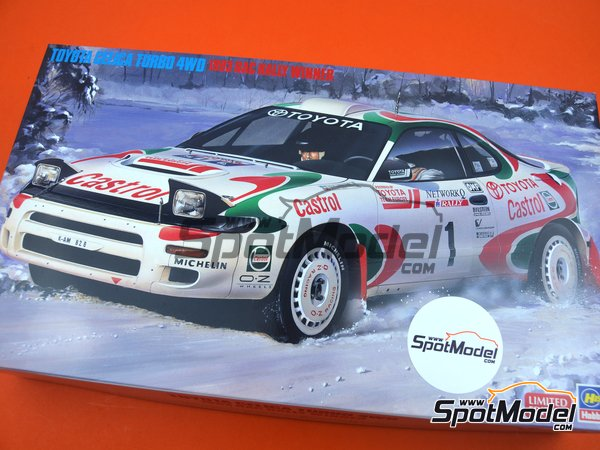 Image 12: Toyota Celica Turbo 4WD Toyota Castrol Team - Great Britain RAC Rally 1993 | Model car kit in 1/24 scale manufactured by Hasegawa (ref. 20358, also 4967834203587 and hsg20358)