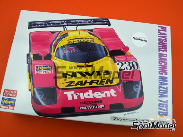 Image 11: Mazda 767B NWB Playsure Racing - Japan Sport Prototype Endurance Championship (JSPC) 1992 | Model car kit in 1/24 scale manufactured by Hasegawa (ref.20359, also hsg20359 and 4967834203594)