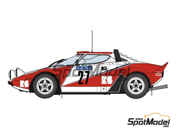 Image 1: Lancia Stratos HF Seree R6 - Targa Florio 1982 | Model car kit in 1/24 scale manufactured by Hasegawa (ref.20361)