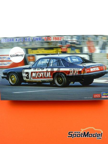 Jaguar XJ-S H.E. Grupo A Tom Walkinshaw Racing TWR Motul - Campeonato Europeo de Turismos ETCC 1982 | Maqueta de coche en escala1/24 fabricado por Hasegawa (ref.20362) image