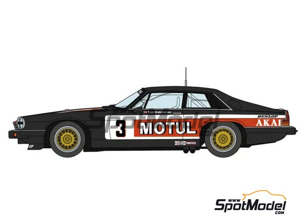 Image 1: Jaguar XJ-S H.E. Grupo A Tom Walkinshaw Racing TWR Motul - Campeonato Europeo de Turismos ETCC 1982 | Maqueta de coche en escala1/24 fabricado por Hasegawa (ref.20362)