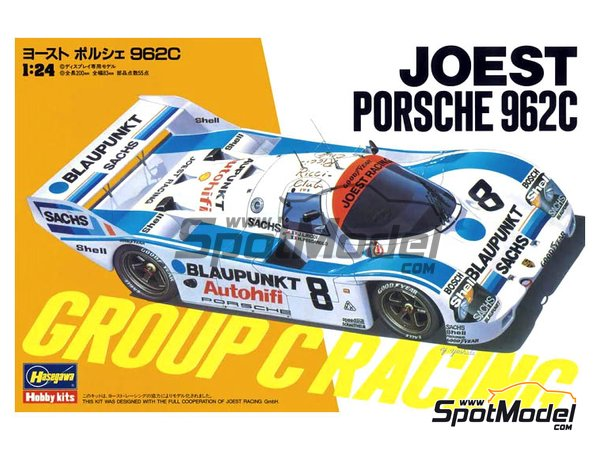 Image 1: Porsche 962C Joest Racing Blaupunkt | Model car kit in 1/24 scale manufactured by Hasegawa (ref. 20363)