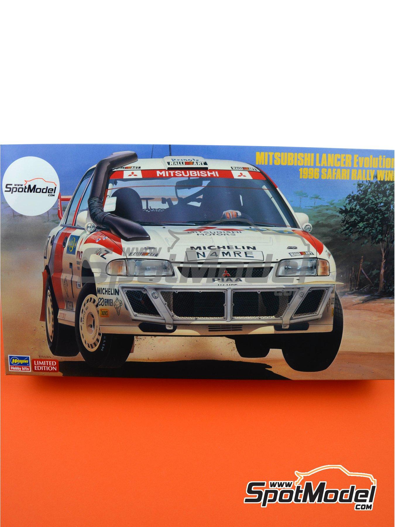 Mitsubishi Lancer Evo III - Safari Rally 1996   Model car kit in 1/24 scale manufactured by Hasegawa (ref.20365) image