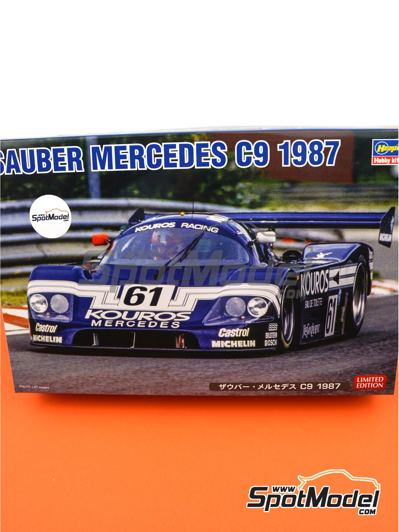 Sauber Mercedes C9 Kouros - 24 Hours Le Mans 1987 | Model car kit in 1/24 scale manufactured by Hasegawa (ref.20373) image