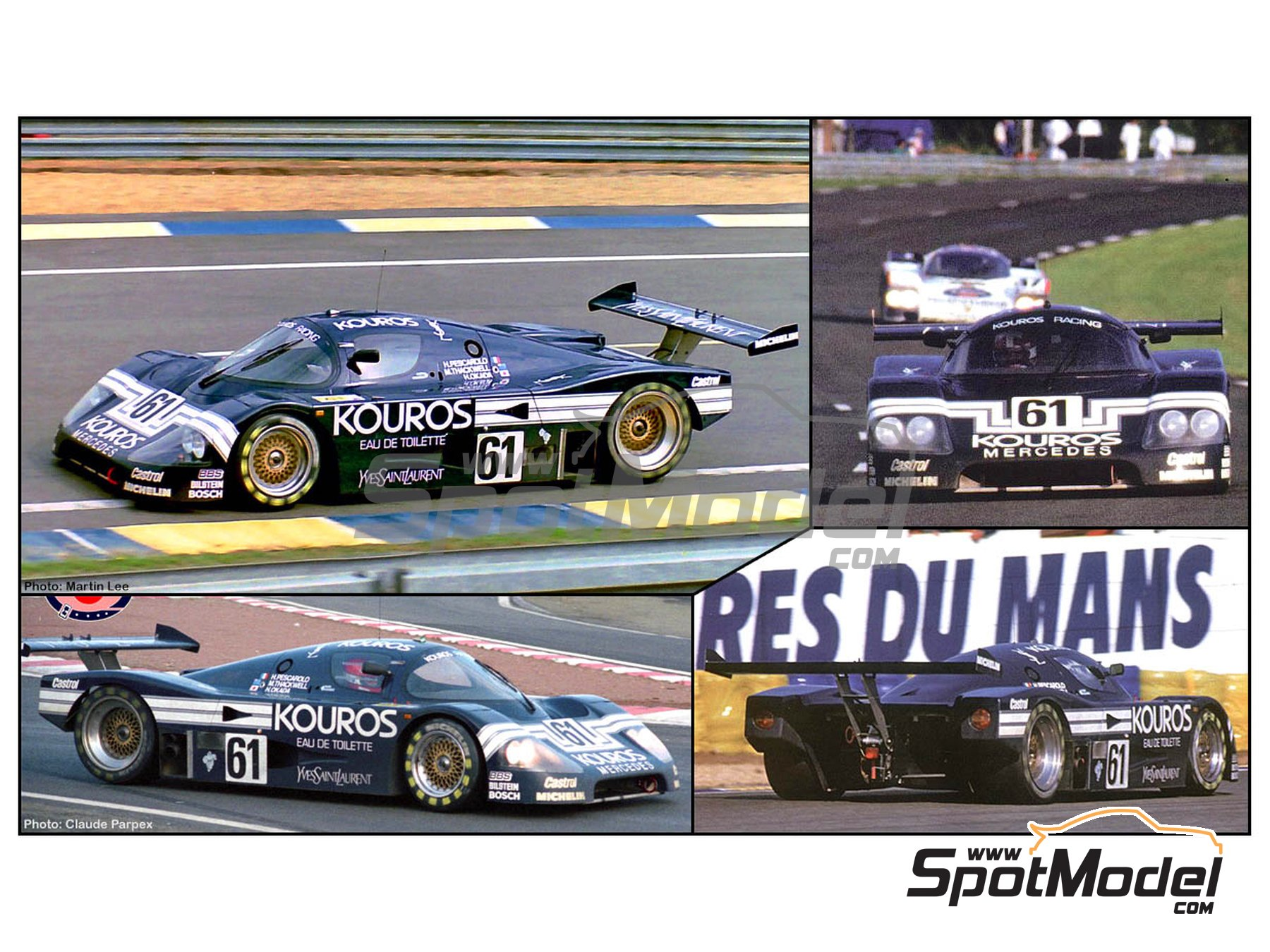 Image 1: Sauber Mercedes C9 Kouros - 24 Hours Le Mans 1987 | Model car kit in 1/24 scale manufactured by Hasegawa (ref.20373)