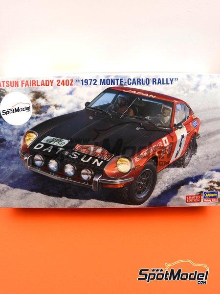 Datsun Fairlady 240Z Nissan Motors - Rally de Montecarlo - Rallye Automobile de Monte-Carlo 1972 | Maqueta de coche en escala1/24 fabricado por Hasegawa (ref.20374, tambien hsg20374 y 4967834203747) image