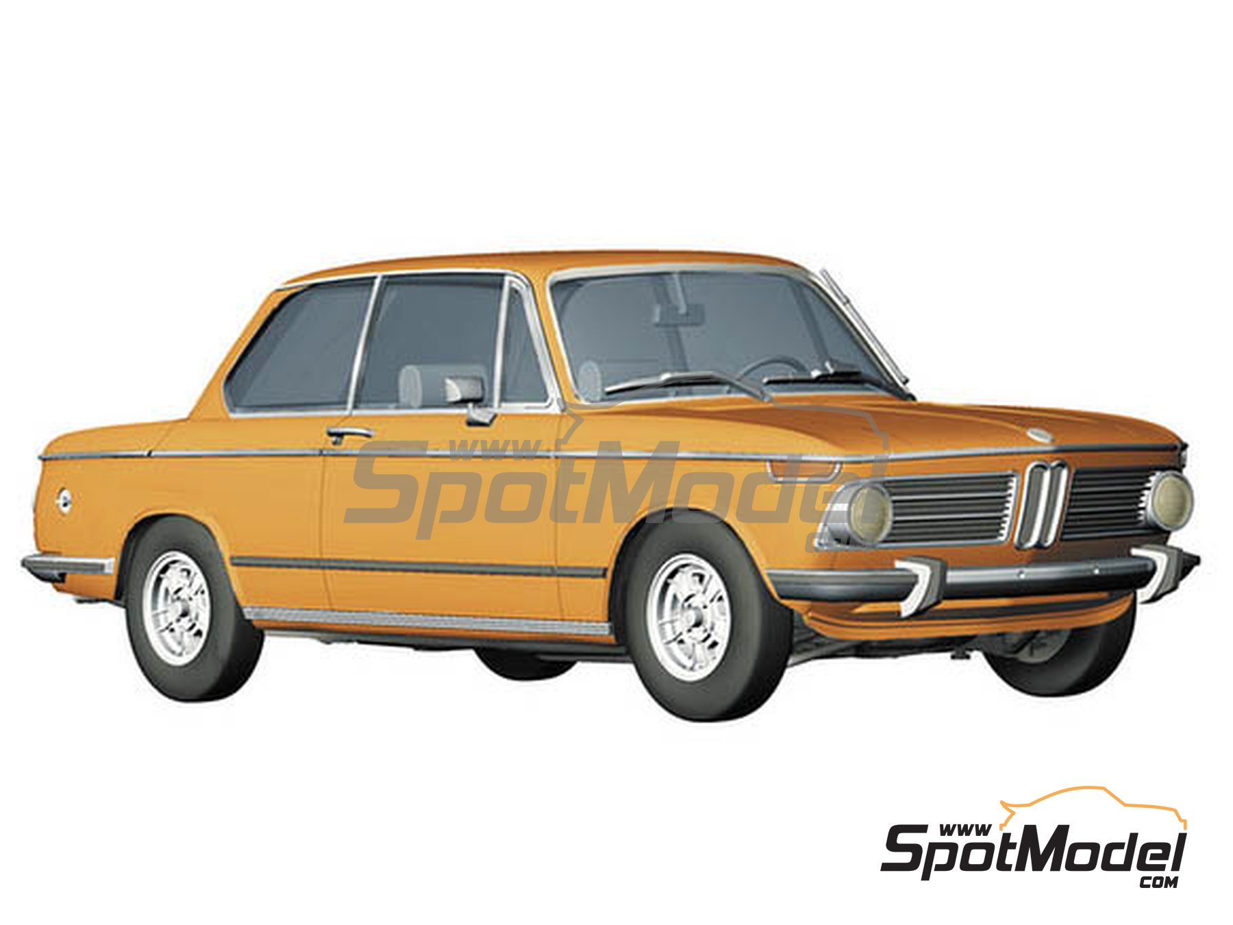 Image 1: BMW 2002 tii -  1971 | Model car kit in 1/24 scale manufactured by Hasegawa (ref. 21123)