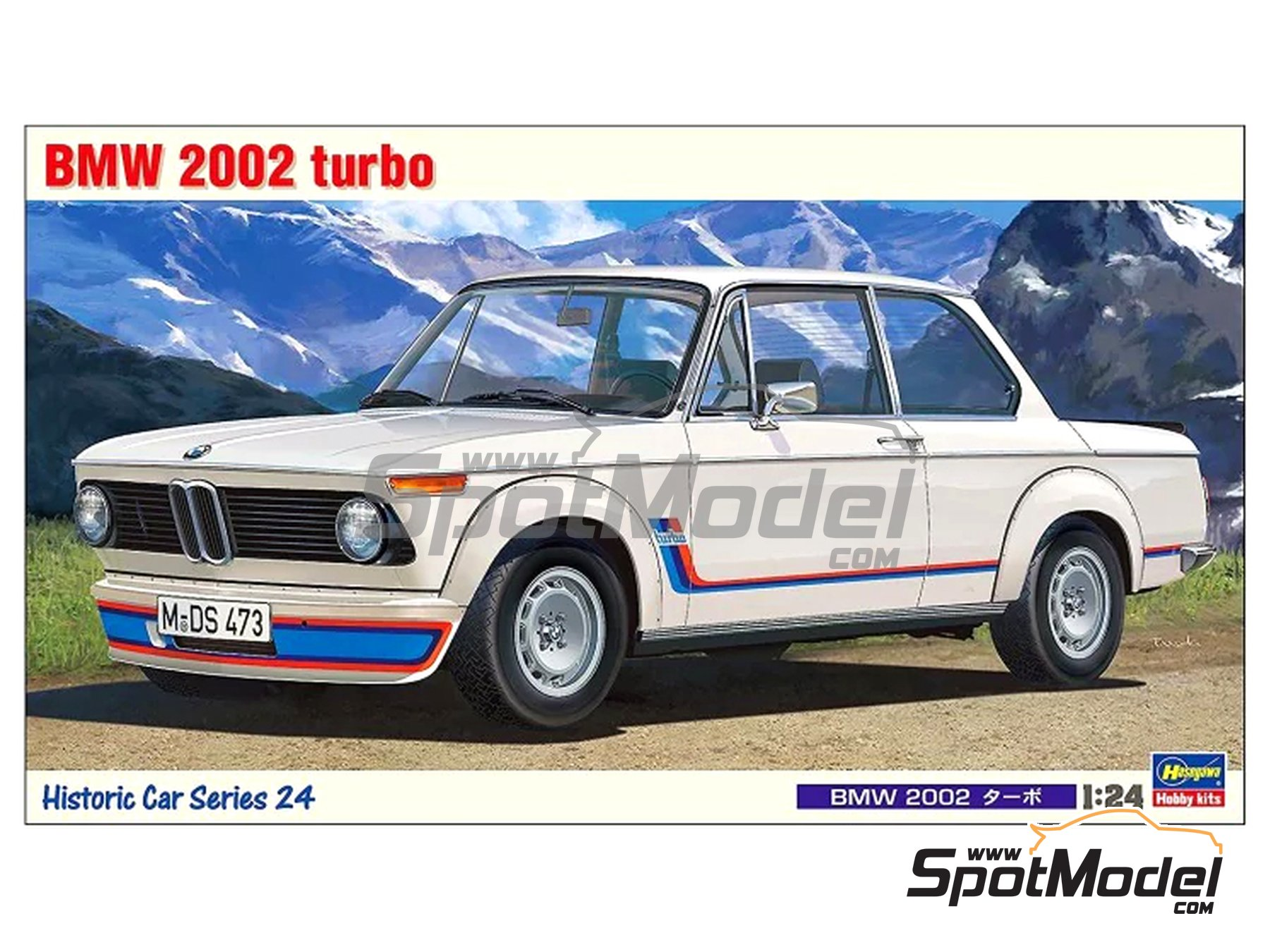 Image 1: BMW 2002 Turbo | Model car kit in 1/24 scale manufactured by Hasegawa (ref. 21124, also HC-24)