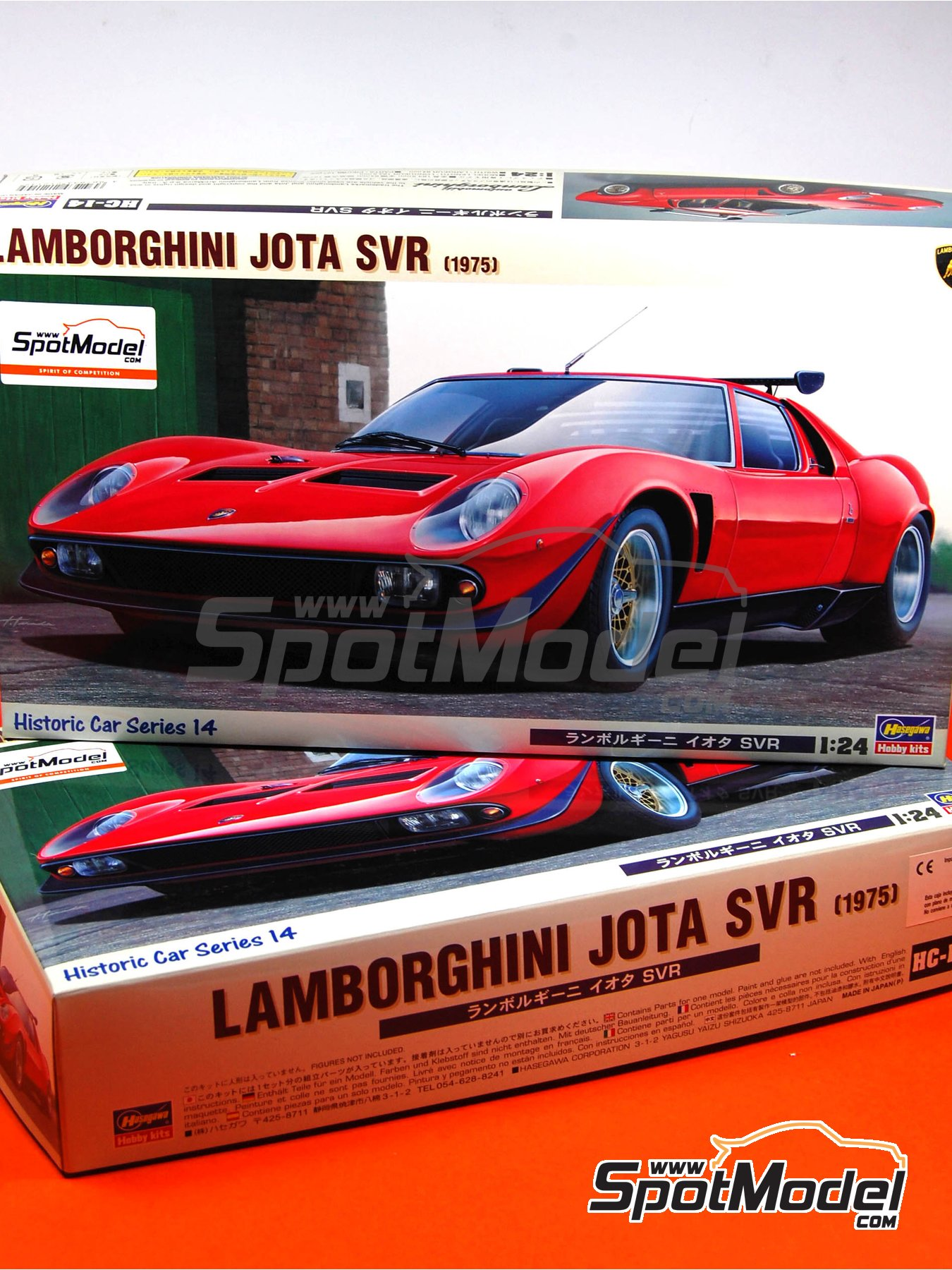 Lamborghini Jota SVR -  1975 | Model car kit in 1/24 scale manufactured by Hasegawa (ref. 21214) image