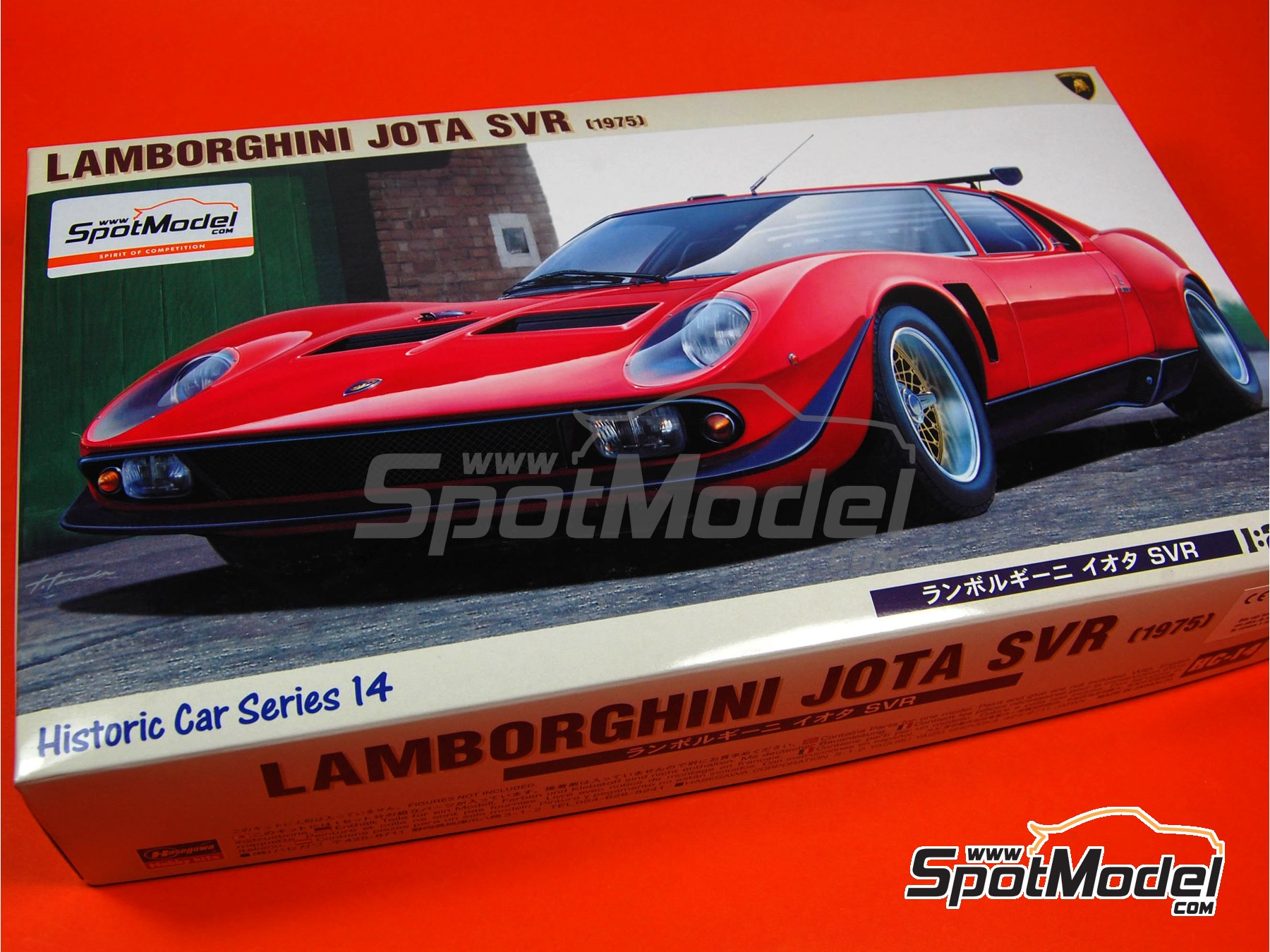 Image 7: Lamborghini Jota SVR -  1975 | Model car kit in 1/24 scale manufactured by Hasegawa (ref. 21214)