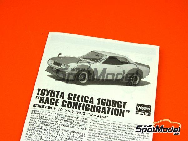 Image 7: Toyota Celica 1600GT | Maqueta de coche en escala1/24 fabricado por Hasegawa (ref.21216, tambien HC-16)