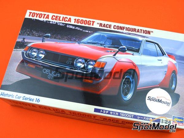 Image 11: Toyota Celica 1600GT | Maqueta de coche en escala1/24 fabricado por Hasegawa (ref.21216, tambien HC-16)