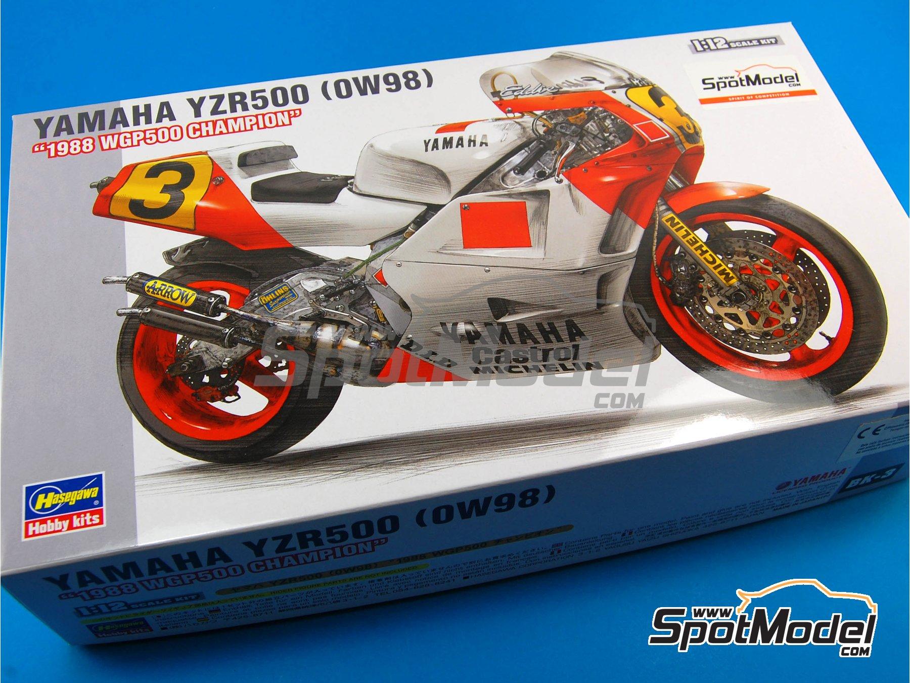 Image 1: Yamaha YZR500 OW98 Marlboro - Campeonato del Mundo de Motociclismo 1988 | Maqueta de moto en escala1/12 fabricado por Hasegawa (ref.21503, tambien BK-3)