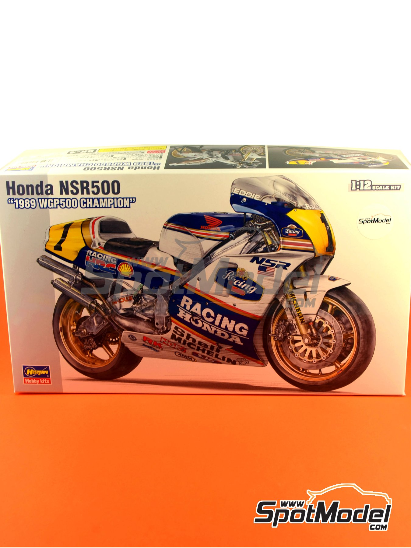 Honda NSR500 Rothmans Honda Team - Motorcycle World Championship 1989 | Model bike kit in 1/12 scale manufactured by Hasegawa (ref. 21504, also BK-4) image