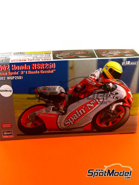 Honda NSR250 Team Spain Gresini - Motorcycle World Championship 2002 | Model bike kit in 1/12 scale manufactured by Hasegawa (ref.21706) image