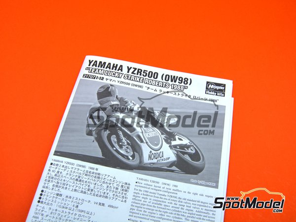 Image 7: Yamaha YZR500 0W98 Team Roberts Lucky Strike - Motorcycle World Championship 1988 | Model bike kit in 1/12 scale manufactured by Hasegawa (ref. 21707)
