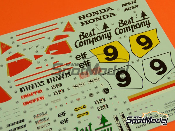 Image 3: Honda NSR500 HB - Motorcycle World Championship 1989 | Model bike kit in 1/12 scale manufactured by Hasegawa (ref.21714)