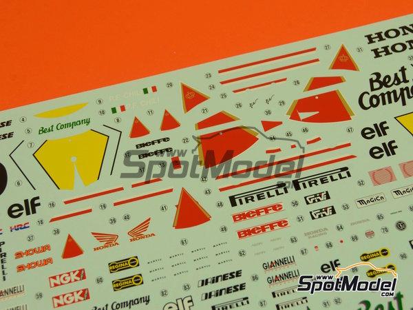Image 4: Honda NSR500 HB - Campeonato del Mundo de Motociclismo 1989 | Maqueta de moto en escala1/12 fabricado por Hasegawa (ref.21714)