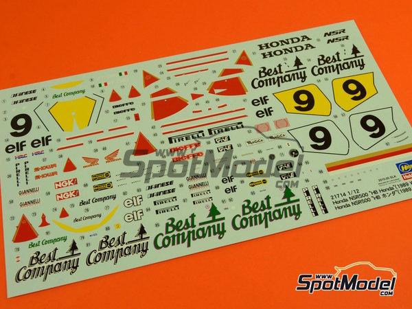Image 6: Honda NSR500 HB - Campeonato del Mundo de Motociclismo 1989 | Maqueta de moto en escala1/12 fabricado por Hasegawa (ref.21714)