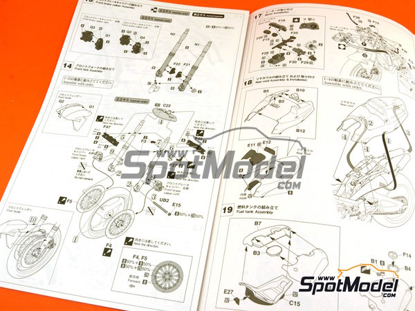 Image 7: Honda NSR500 HB - Motorcycle World Championship 1989 | Model bike kit in 1/12 scale manufactured by Hasegawa (ref.21714)