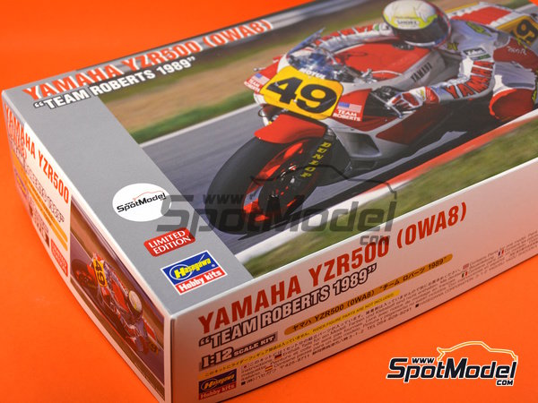 Image 12: Yamaha YZR500 0WA8 Team Roberts - Belgian Grand Prix 1989 | Model bike kit in 1/12 scale manufactured by Hasegawa (ref. 21716)