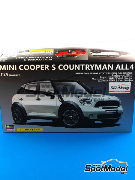 Mini Cooper S Countryman | Model car kit in 1/24 scale manufactured by Hasegawa (ref. 24121) image