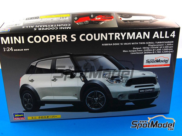 Image 1: Mini Cooper S Countryman | Model car kit in 1/24 scale manufactured by Hasegawa (ref. 24121)