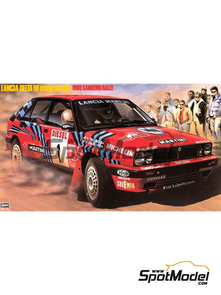 Lancia Delta HF Integrale 16v Martini International Racing Team - Sanremo Rally 1989 | Model car kit in 1/24 scale manufactured by Hasegawa (ref. 25008) image