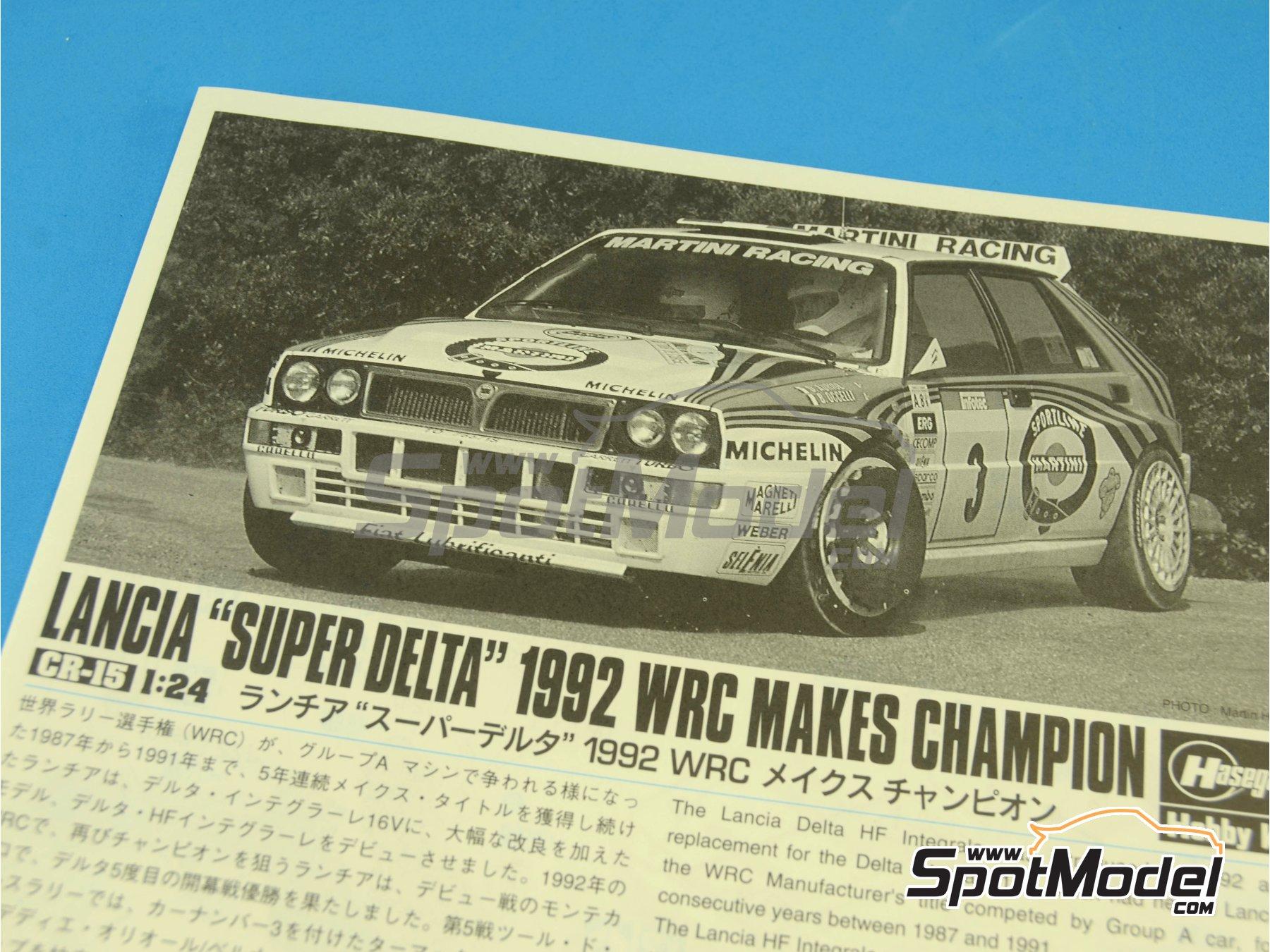 Image 1: Lancia Super Delta HF Integrale Martini Racing - Rally Tour de Corse 1992 | Maqueta de coche en escala1/24 fabricado por Hasegawa (ref.25015)