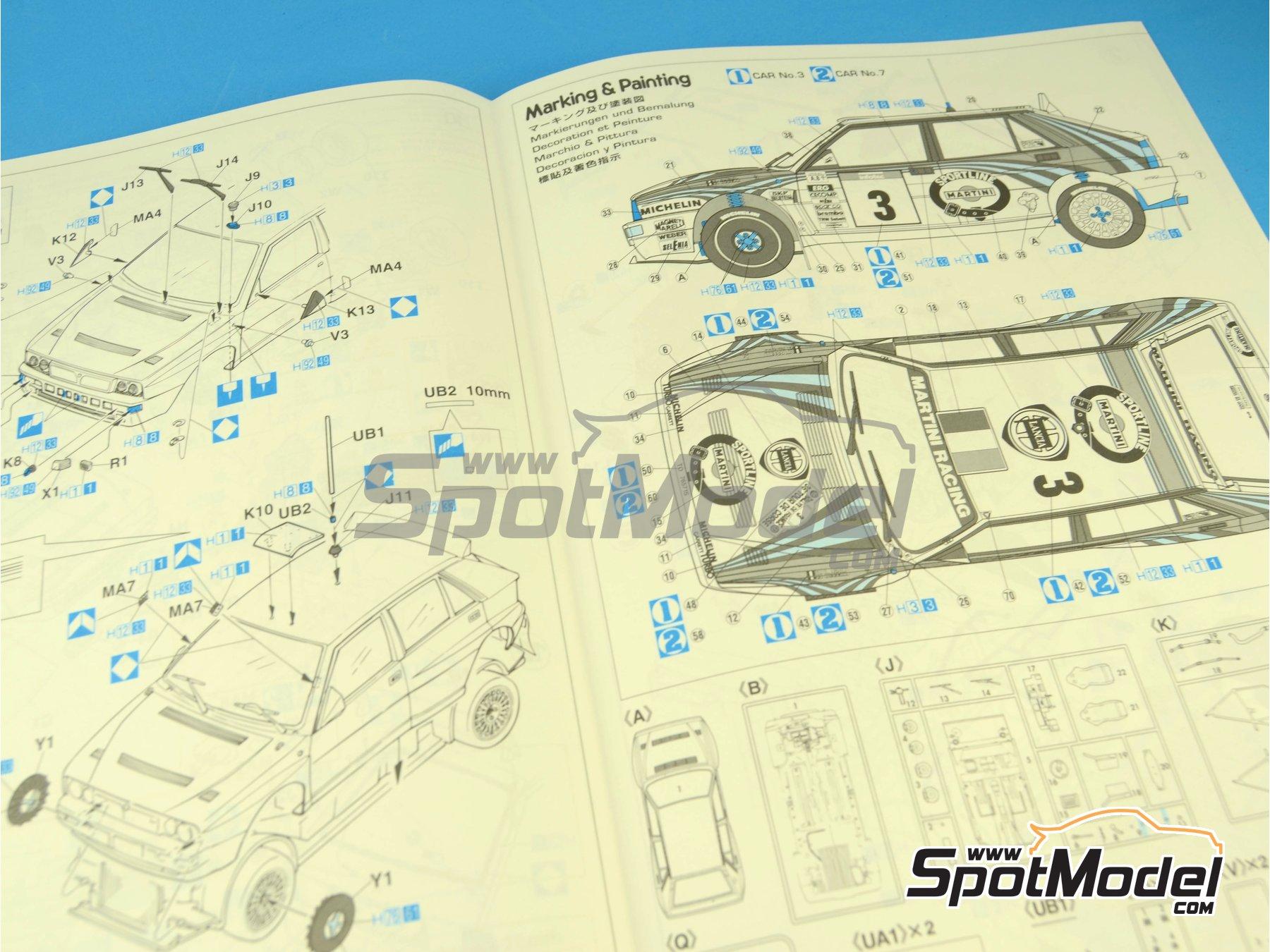 Image 3: Lancia Super Delta HF Integrale Martini Racing - Rally Tour de Corse 1992 | Maqueta de coche en escala1/24 fabricado por Hasegawa (ref.25015)