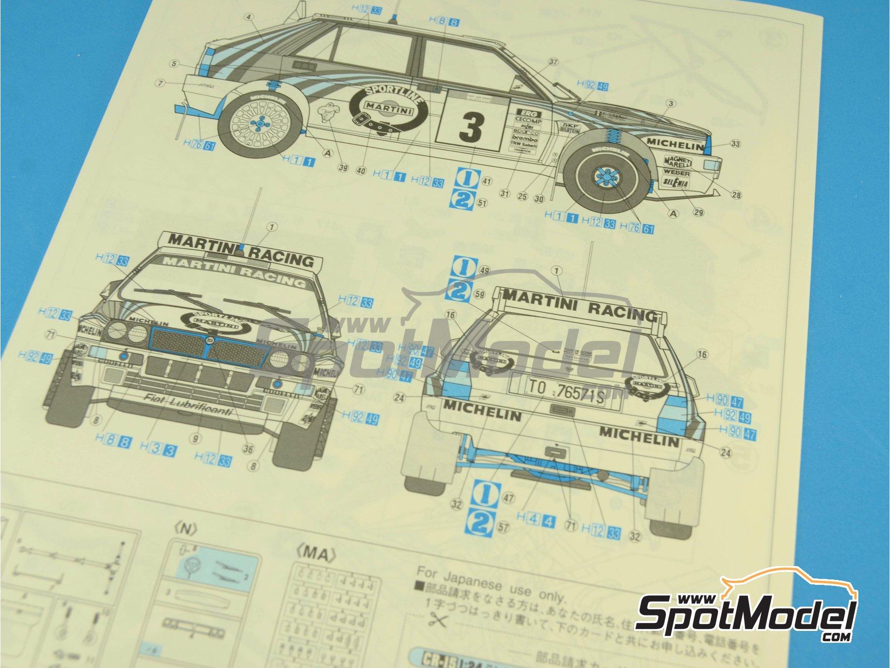 Image 4: Lancia Super Delta HF Integrale Martini Racing - Rally Tour de Corse 1992 | Maqueta de coche en escala1/24 fabricado por Hasegawa (ref.25015)