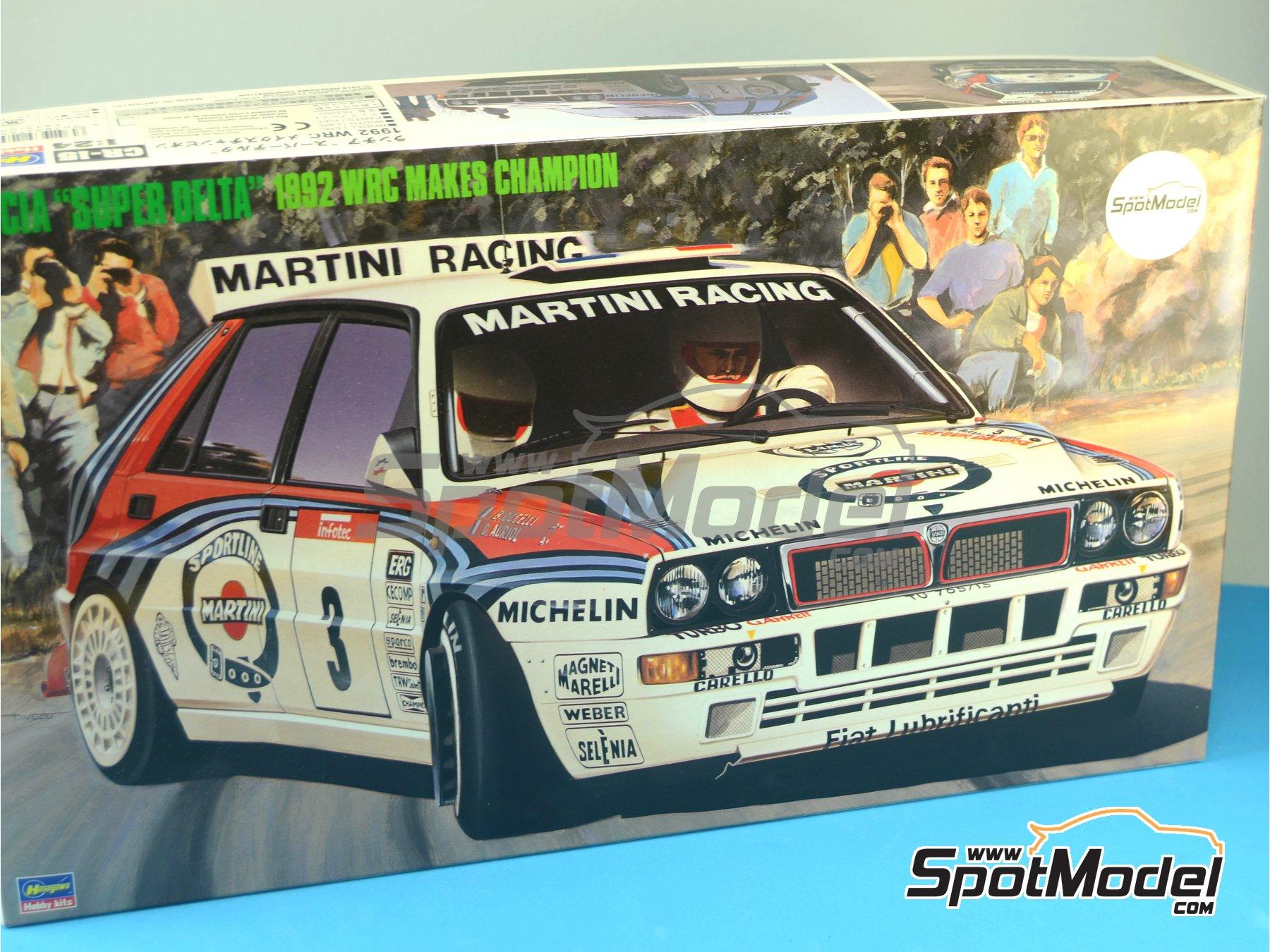 Image 16: Lancia Super Delta HF Integrale Martini Racing - Rally Tour de Corse 1992 | Maqueta de coche en escala1/24 fabricado por Hasegawa (ref.25015)