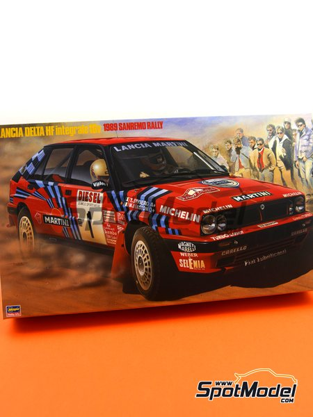 Lancia Delta HF Integrale 16v Martini International Racing Team - Sanremo Rally 1989 | Model car kit in 1/24 scale manufactured by Hasegawa (ref.25208) image