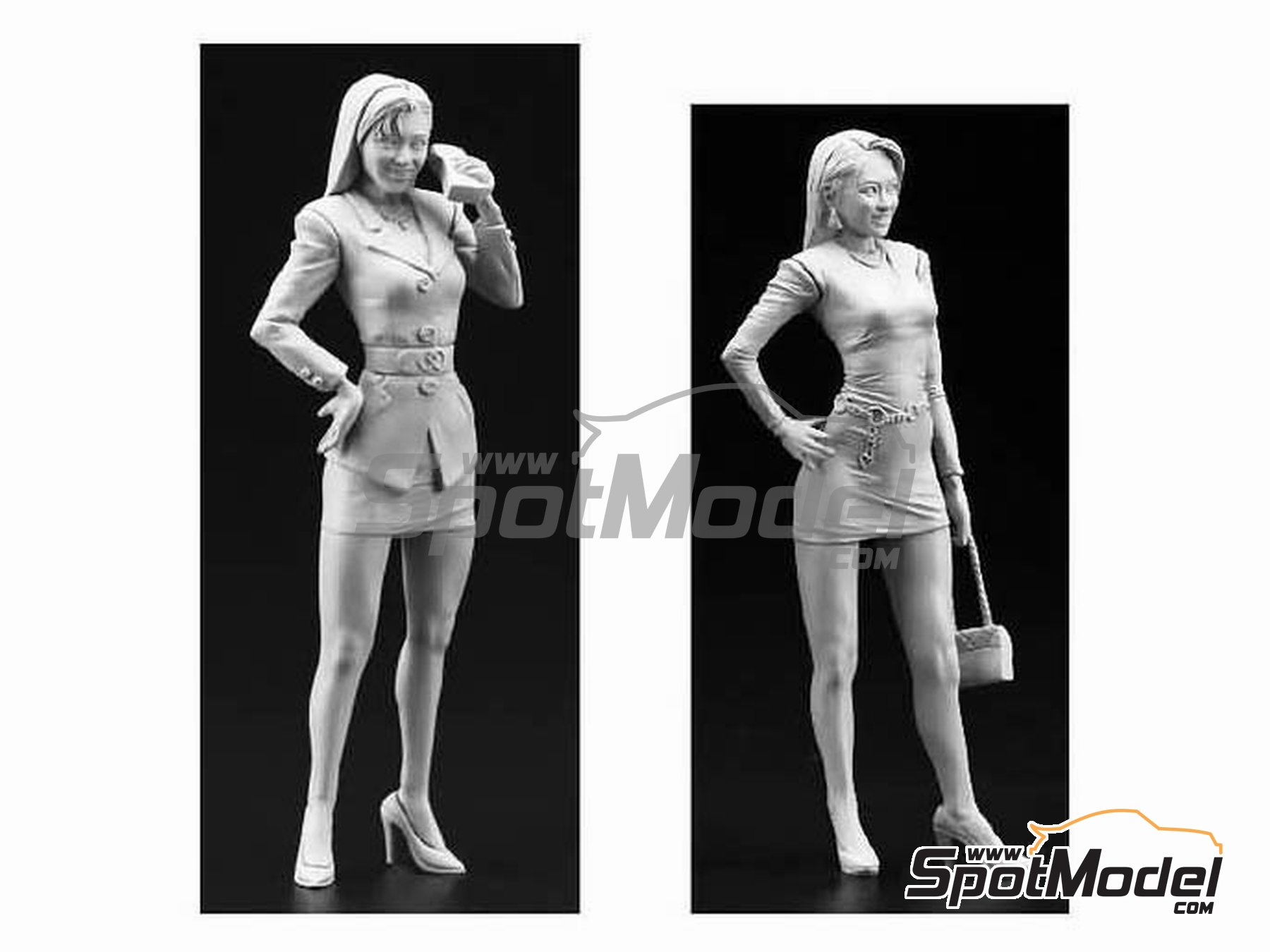 Image 1: 80's Bubbly Girls | Figures set in 1/24 scale manufactured by Hasegawa (ref.29101, also FC01)